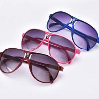 ingrosso pc sette-Hot New fashion sette colori facoltativi per bambini occhiali da sole per uomo e donna bambini occhiali da sole moda WCW337
