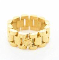 ingrosso orologi d'oro di qualità-nuovo anello in oro placcato in oro 18 carati di alta qualità in acciaio inossidabile placcato oro 18 kt