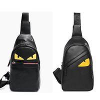 sling bag sporu toptan satış-Erkek PU Deri Göğüs Sling Gün Paketi Omuz Çantası Anti-Hırsızlık Tasarım Spor Seyahat Sırt Çantası Dişsiz Küçük Yumuşak