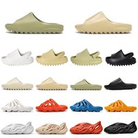 Wholesale sandals us15 for sale - Group buy 2020 kanye west slides foam runner men women slippers flip flops kids slides sandals Resin Bone Desert Sand triple black fashion men sliders