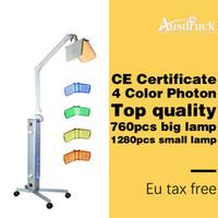 led machine professionnelle pdt achat en gros de-EU TAX GRATUIT Professionnel BIO luminothérapie Photon LED Rajeunissement de la peau traitement de l'acné PDT machine de salon de beauté