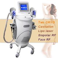 Wholesale cryo lipolysis machines for sale - 6 in Removal Fat Cryolipolysis Beauty Machine Cavitation RF Skin Tighteninng Fat Freeze Machine Liposuction Cryo Fat Lipolysis
