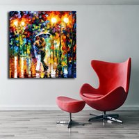 Wholesale nude lovers paintings for sale - Group buy Lovers Date In Rain Roman Kiss Canvas Posters Prints Wall Art Painting Salon Decorative Picture Modern Home Decoration Artwork