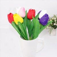 ingrosso piantare piante di tulipani-36pcs / set Colorful Penna a sfera tulipano novità PU pianta simulazione fiori penna a sfera 0,7 millimetri di inchiostro blu regalo scuola di alimentazione