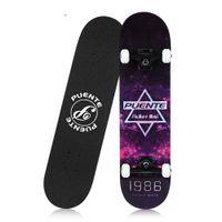 schlittschuh schlange großhandel-Skateboard Skateboard Allrad Double Kick 8-lagiges Hard Maple Deck T-förmiges Gadget Board Skateboarding Unterhaltung