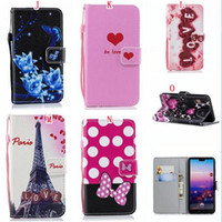 Wholesale cartoon eiffel tower paris for sale - Group buy For Iphone PRO MAX X XS XR PLUS S SE S Cartoon Wallet Leather Case Flower Strap Stand Heart Paris Eiffel Tower Skin Cover