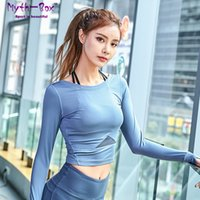 Wholesale order white tees resale online - Spring Women Yoga Shirt Sport T shirt Slim Sexy Mesh Patchwork Cropped Workout Tee Tops Fitness Running Shirt Gym Elastic Blouse