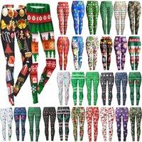 dhl stilleri giyim toptan satış-40 Stiller Noel Baskı Tozluklar Kadınlar Çiçek Ren Geyiği kar tanesi İnce Kalem pantolon Tozluklar Elastik Pantolon Giyim DHL HH9-2474