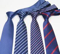 mens stricken fliegen großhandel-5 STÜCKE Standard 8 cm Klassische Herren Krawatte Jacquard Woven Krawatten Floral Plaid Striped Krawatten für Männer Hochzeit Anzug Business Party Große Väter Geschenk