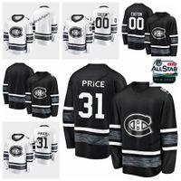 монтреаль черный трикотаж оптовых-2019 All-Star Game Parley настроить трикотажные изделия черный белый #31 Кэри цена Монреаль Канадиенс хоккей трикотажные изделия Все звезды сшитые рубашки S-XXXL