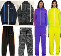 mulheres mais quentes jaquetas para o inverno venda por atacado-Novos homens e mulheres jaqueta Hot Palm Angels usam outono e inverno de alta qualidade Jaqueta e calça PA Casaul Palm Angels conjunto 21 estilo S-XL