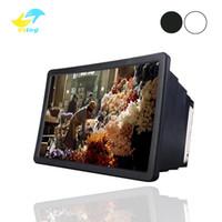 mobiltelefone displayhalter stehen großhandel-Handy Bildschirm Lupe Verstärker Expander Ständer Halter für 3D Film Display Telefon Bildschirm Lupe für Smartphone