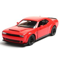 Wholesale dodge toys resale online - High Simulation Alloy Car Model Diecast Metal Pull back Vehicle Double Doors Alloy Car Model Toy Apply To Dodge