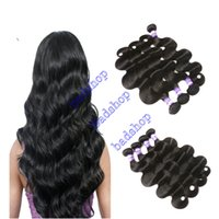 Wholesale wet waves human hair resale online - Brazilian Body Wave Hair Weaves A Great Quality Virgin Human Hair Extensions Virgin Brazilian Wet and Cheap Price Wavy Hair Bundles