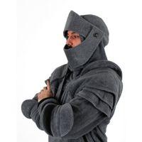 warme kostüme großhandel-Herbst Winter Warm Knight Hoodies Männer Krieger Soldat Mit Kapuze Sweatshirt Männliche Maske Rüstung Pullover Cosplay Kostüm Plus Größe Tops