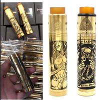 röhrenmod gold großhandel-Messing Tower Mod Tube mechanisches Mod Kit mit 24mm AXIS RDA Black Gold Snake 18650 Akku und Zigarettenanzünder