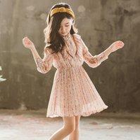 vestidos de baile de calidad para niñas al por mayor-New Girls Longuette algodón Flores rotas Vestidos Chica Vestidos de baile Vestido de princesa de verano de la mejor calidad 4-20 lw11
