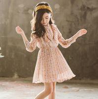 ingrosso pausa di abito-New Girls Longuette in cotone Broken flowers Dress Dresses Girl Prom Dresses Summer Princess Dress migliore qualità 4-20 lw11