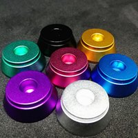 Wholesale rba holder for sale - Group buy Atomizer Base Threaded Clearomizer Display Base Atomizer Stand RDA base Aluminum Holder for Thread Clearomizers rda RBA tank
