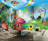 papel pintado de los niños al por mayor-Fondos de pantalla Modern Custom 3d Photos Hd Wall Mural Elf Boys and Girls Wallpaper for Children's Bedroom Mural de pared 3d Toda la casa