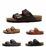ingrosso pantofole di cuoio delle donne pu-2019 pantofole suola in legno morbida Tomaia in vera pelle Nuove scarpe casual Uomo Pantofole da donna Pantofole da donna Sandali da strada Hip Hop
