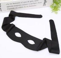 yetişkinler için siyah yarı maskeler toptan satış-Zorro Masquerade Maske Yeni Yetişkin Çocuk Yarım Yüz Göz Maskeleri Cosplay Prop Cadılar Bayramı Parti Malzemeleri Siyah SN2943