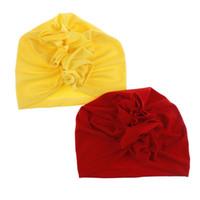 d2b3e4e28e8c2 Wholesale photography top for sale - 10 colors Cute Newborns Solid Color Floral  Cap Girls boys