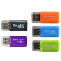 Wholesale china smallest phones resale online - Hot Dedicated Mobile Phone Memory Card Reader TF Card Reader Small Multi purpose High speed USB S D Card Reader