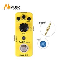 Wholesale acoustic guitar effects resale online - Mooer Flex Boost Guitar Effect Pedal Wide Gain Range Boost Full Metal Shell True Bypass With Free Connector and Cover Cap