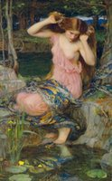 Wholesale large wall nude canvas art resale online - John William Waterhouse Lamia Home Decor Oil Painting On Canvas Wall Art Canvas Large Picture For Living Room