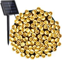 Wholesale solar fairy lights for resale online - Solar String Lights ft LED Modes Solar Powered Fairy String Lights Waterproof Solar Garden Lights for Patio Home Wedding Party Xmas