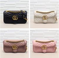 chaîne g achat en gros de-sacs à bandoulière célèbres femmes Borsa a spalla G Marmont top marque marque en cuir véritable sac à bandoulière sacs à main sac à main célèbre designer