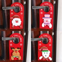 Wholesale hanger decor for sale - Group buy 4styles Christmas Tree Door hanger Hanging Pendant Ornament Christmas Decor For Home Hotel Door Xmas Gift Santa Decoration props FFA3138