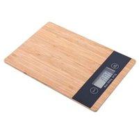 eletrônica bambu venda por atacado-5000G / 1G 5Kg Madeira Bambu Hd Lcd Display Digital Escala Multi-Função Hd Display Lcd Balanço Eletrônico Auto Off