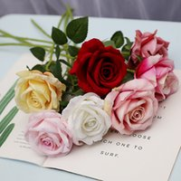 blumen für hochzeitsmittelstücke großhandel-Künstliche Rose Blumen Flanell Rose Kränze Hochzeitssträuße Corsage Handgelenk Blume Kopfschmuck Mittelstücke Home Party Decor neue GGA2529