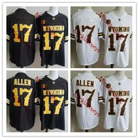 4e5508377 Wholesale black cowboys jerseys online - Mens NCAA Josh Allen Wyoming  Cowboys College Football Jersey Stitched