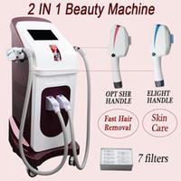 maquina de laser para pele de branqueamento venda por atacado-O IPL Elight Whitening encolhe a máquina da remoção da máquina da remoção do cabelo do laser do laser Ipl da máquina de SHR IPL