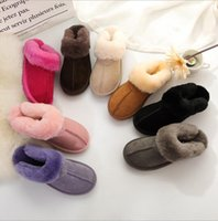 Wholesale home slippers women warm resale online - Fur Slippers Colors Winter Women Warm Indoor Slippers Soft Leather Boot Wool Lady Home Shoes pairs OOA6065