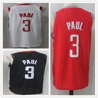 Wholesale polo jersey shirt online - Chris Rockets Paul Men s Basketball Jerseys New season Fashion Player version Mens polo shirt white black red Men Sport Jersey