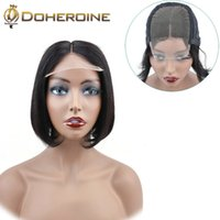 Wholesale Brazilian Short Lace Front Human Hair Wigs Brazilian Straight Bob Wig Pre Plucked Hairline With Baby Hair Lace Wigs For Black Women