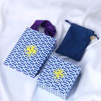 bolsas de almacenamiento de tela zip al por mayor-Bolso original del regalo de la joyería de las bolsas y de las bolsas de la marca de calidad superior que envía libremente PS6923