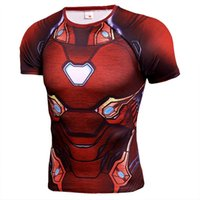 ingrosso magliette uomo in ferro-Marvel Avengers Endgame Iron Man Mens Designer T Shirt Captain America Thor Spiderman 3D stampato manica corta Quick Drying Tshirt Abbigliamento