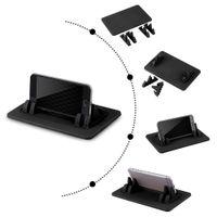 halter silikon tablette großhandel-TS030 Smartphone Tablet PC Halter Autohalterung Ständer Silikon rutschfeste Pad Dash Mat Cradle Dock