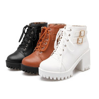Wholesale korean ankle boots for sale - Group buy Korean boots women s shoes spring and autumn winter high heels lace boots English winds