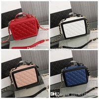 Wholesale trunk camera for sale - Group buy new Hight quality Women s Mini leather camera case cm Zipper opening mobile phone handbag leather cosmetic bag small square