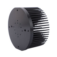 aletas de dissipador de calor venda por atacado-Rodada D133mm Pré-perfurado pin fin dissipador de calor apto para cree cxb3590 Cidadão CLU-048 Bridgelux V29