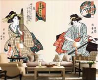 горничная оптовых-3d комната обои на заказ фотообои HD японская горничная телевизор фоне украшения стены картины обои для стен 3 d