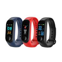 mi pulsera inteligente al por mayor-Pulsera de fitness Presión arterial Pantalla IPS al aire libre Monitor de ritmo cardíaco Vida Prenda impermeable Pulseras inteligentes M3 PK Mi banda 3