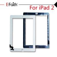 ipad2 digitalisierer großhandel-Top-Qualität der Noten-Digitizer für iPad 2,3,4 Touch Screen Digitizer Ersatz mit Home Button Adhesive