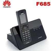 sim-karte haustelefon großhandel-Schnurlostelefon-Handys Huawei F685 DECT-Tischtelefon für Privatgebrauch mit Sim-Kartensteckplatz